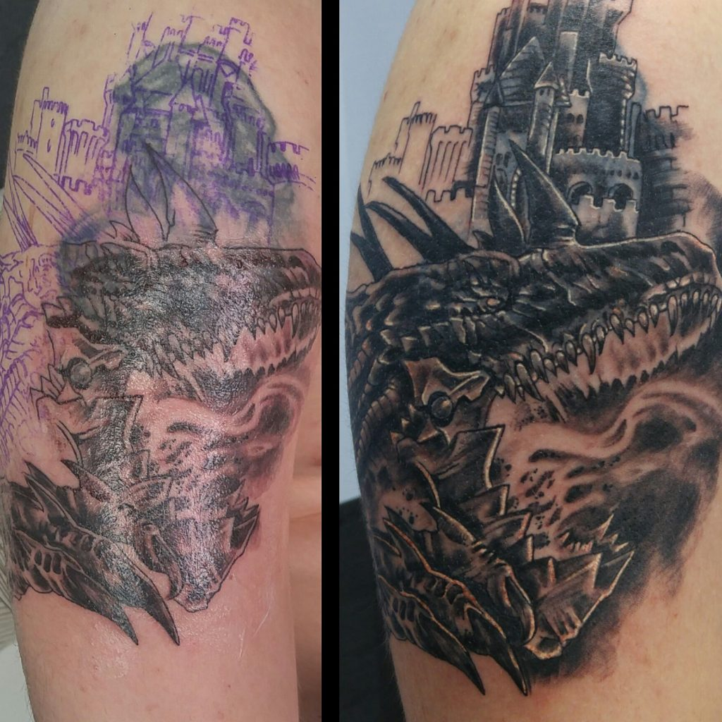 Cover up dragón